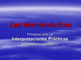 Aplicaciones practicas de la Interpretacion