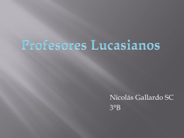 Profesores Lucasianos