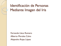 Identificación de Personas Mediante Imagen del Iris