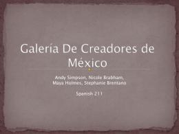 Galeria De Creadores de Mexico