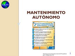 Mantenimiento autónomo - Contacto: 55-52-17-49-12