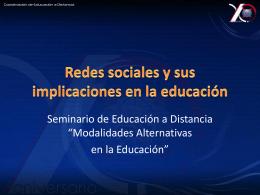 Redes sociales y sus implicaciones en la educación