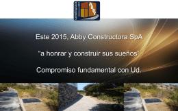 Diapositiva 1 - Los valores de Abby Constructora son