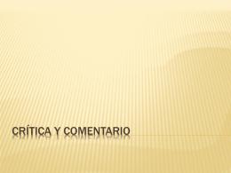 Crítica y comentario - Colegio Santa Sabina
