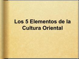 Los 5 Elementos de la Cultura Oriental
