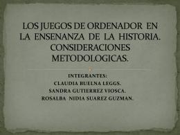LOS JUEGOS DE ORDENADOR EN LA
