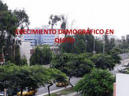 CRECIMIENTO DEMOGRÁFICO EN QUITO