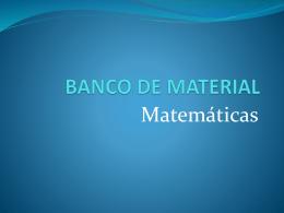 BANCO DE MATERIAL