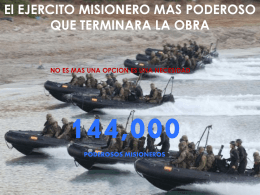 144.000 El Ejercito Poderosos De Misioneros
