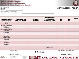 Archivo ppt - Deportes - Instituto Politécnico Nacional