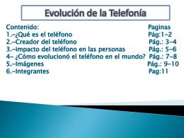 Evolución de la telefonía - 2010-UESJLS