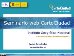 CartoCiudad: BD oficial de red viaria, cartografía urbana e