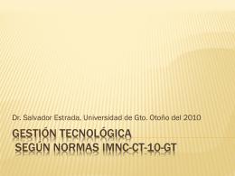 Gestión tecnológica según NMX