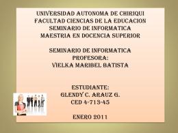 universidad autonoma de chiriqui facultad ciencias de la educacion