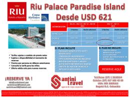Riu Palace Paradise Island Desde USD 621