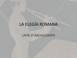 la elegia latina - latinlatinlatin
