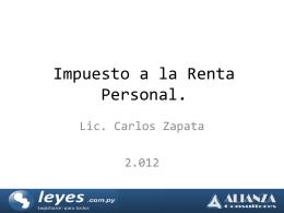 ingresos gravados - Colegio de Abogados del Paraguay