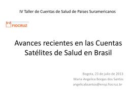 Avances recientes en las Cuentas Satélites de Salud en Brasil