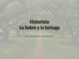 Historieta La liebre y la tortuga