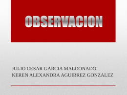 OBSERVACION - WordPress.com