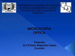 presentación microscopia optica