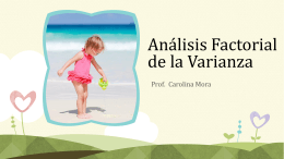 analisis factorial de la varianza (kerlinger y lee 14