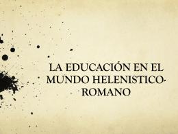 La educación en el mundo helenístico