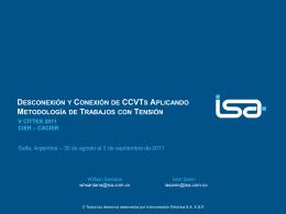 DESCONEXIÓN Y CONEXIÓN DE CCVTs APLICANDO