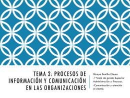 procesos de información y comunicación en las organizaciones