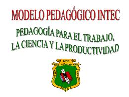 Instrumentos Modelo Pedagógico