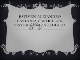 Estiven Alejandro Cardona Castrillón sistema inmunológico