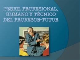 perfil profesional, humano y técnico del profesor