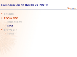 Estudio STAR: RPV/FTC/TDF vs EFV/FTC/TDF - ARV