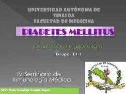 FACULTAD DE MEDICINA DIABETES MELLITUS POR