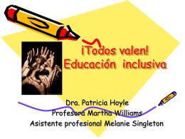 ¡Todos valen! Educación inclusiva