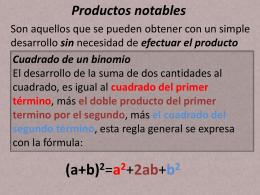 algebra 12 productos notables
