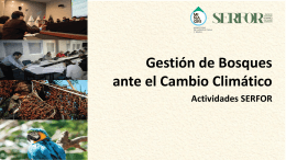 GESTION DE BOSQUES CAMBIO CLIMATICO
