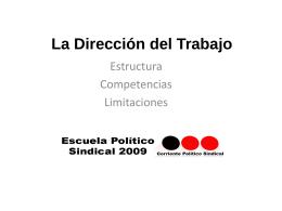 La Dirección del Trabajo - Corriente Politico Sindical