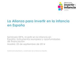 La Alianza para invertir en la infancia en España