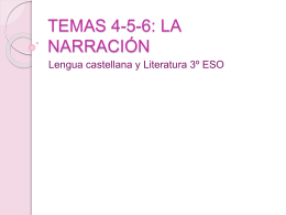 Temas 4,5,y 6: La narración