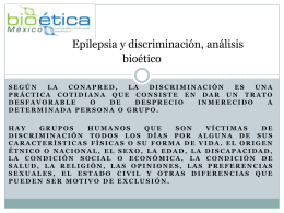 Epilepsia y discriminación, análisis bioético