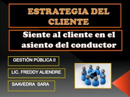 estrategia del cliente