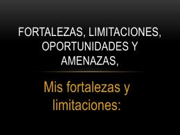 FORTALEZAS, LIMITACIONES, OPORTUNIDADES Y AMENAZAS,