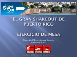 El Gran ShakeOut de Puerto Rico presentacion