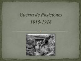 Guerra de Posiciones. PwP