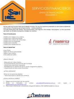 SERVICIOS-FINANCIEROS- Finamérica