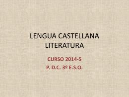 LENGUA CASTELLANA LITERATURA