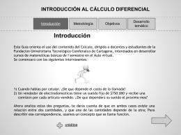 introducción al cálculo diferencial