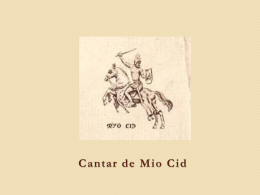Cantar de Mio Cid - Literatura española para americanos