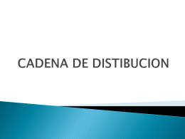 CADENA DE DISTIBUCION